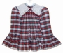 """<img src=""""https://p11.secure.hostingprod.com/@grammies-attic.com/ssl/images/blue-sold-1.gif""""> Polly Flinders Red and Green Plaid Smocked Toddler Dress"""