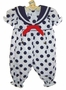 "<img src=""https://p11.secure.hostingprod.com/@grammies-attic.com/ssl/images/blue-sold-1.gif""> NEW White Sailor Romper with Navy Dots"