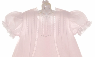 7a0f61410 NEW Feltman Brothers Pale Pink Vintage Style Baby Dress with Lace ...
