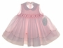 "<img src=""https://p11.secure.hostingprod.com/@grammies-attic.com/ssl/images/blue-sold-1.gif""> NEW Sarah Louise Pink Sleeveless Smocked Dress with Fagoted Scalloped Collar"