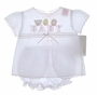 "<img src=""https://p11.secure.hostingprod.com/@grammies-attic.com/ssl/images/blue-sold-1.gif""> NEW Will'Beth White Diaper Set With Pink Embroidered ""Baby"" and Animals"