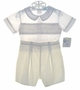 "<img src=""https://p11.secure.hostingprod.com/@grammies-attic.com/ssl/images/blue-sold-1.gif""> NEW Petit Ami Pale Yellow and White Smocked Button On Shorts Set"