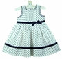 "<img src=""https://p11.secure.hostingprod.com/@grammies-attic.com/ssl/images/blue-sold-1.gif""> NEW Sarah Louise White and Navy Dotted Linen Dress"