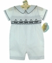 "<img src=""https://p11.secure.hostingprod.com/@grammies-attic.com/ssl/images/blue-sold-1.gif""> NEW Carriage Boutiques White Smocked Romper with Sailboat Embroidery"