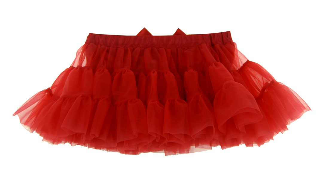 992061dcb4 NEW Red Ruffled Tutu Style Pettiskirt with Attached Diaper Cover/Panty