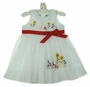 "<img src=""https://p11.secure.hostingprod.com/@grammies-attic.com/ssl/images/blue-sold-1.gif""> Sarah Louise White Voile Dress with Floral Embroidery and Red Ribbon Tie"