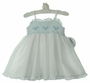 "<img src=""http://site.grammies-attic.com/images/blue-sold-1.gif""> NEW Sarah Louise White Smocked Sundress with Teal Heart Embroidery"