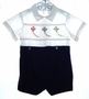 "<img src=""https://p11.secure.hostingprod.com/@grammies-attic.com/ssl/images/blue-sold-1.gif""> Paul E. Flinders Smocked Shortall with Kites Embroidery"