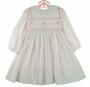 "<img src=""https://p11.secure.hostingprod.com/@grammies-attic.com/ssl/images/blue-sold-1.gif""> NEW Sarah Louise Pale Pink Smocked Toddler Dress with Embroidered Lace Collar and Shoulder Bows"
