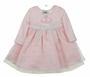 "<img src=""http://site.grammies-attic.com/images/blue-sold-1.gif""> NEW Rare Editions Pink Velvet Birthday Dress with Polka Dot Twirl Skirt"