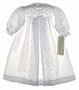 "<img src=""https://p11.secure.hostingprod.com/@grammies-attic.com/ssl/images/blue-sold-1.gif""> NEW Alexis Long Sleeved White Eyelet Pleated Front Christening Gown"