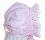 "<img src=""https://p11.secure.hostingprod.com/@grammies-attic.com/ssl/images/blue-sold-1.gif""> Custom Made Pink Hand Smocked Baby Bonnet with Lace Trim"