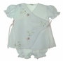 NEW Will'Beth White Batiste Diaper Set with Pink Satin Ribbon Ties and Butterfly Embroidery