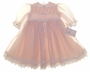 "<img src=""https://p11.secure.hostingprod.com/@grammies-attic.com/ssl/images/blue-sold-1.gif""> NEW Blush Pink Victorian Style Silk and Lace Baby Dress"