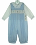 "<img src=""https://p11.secure.hostingprod.com/@grammies-attic.com/ssl/images/blue-sold-1.gif""> NEW Royal Child Blue Checked Smocked Birthday Longall Set"