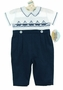 "<img src=""https://p11.secure.hostingprod.com/@grammies-attic.com/ssl/images/blue-sold-1.gif""> NEW Carriage Boutiques Navy and White Smocked Longall with Sailboat Embroidery"