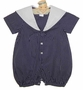"<img src=""https://p11.secure.hostingprod.com/@grammies-attic.com/ssl/images/blue-sold-1.gif""> NEW Sophie Dess Navy Checked Sailor Romper with White Trim"