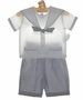 "<img src=""https://p11.secure.hostingprod.com/@grammies-attic.com/ssl/images/blue-sold-1.gif""> NEW Sophie Dess White Sailor Shirt with Navy Striped Shorts Set"