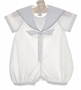 "<img src=""https://p11.secure.hostingprod.com/@grammies-attic.com/ssl/images/blue-sold-1.gif""> NEW Sophie Dess White Batiste Sailor Romper with Navy Trim"
