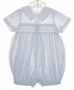 "<img src=""https://p11.secure.hostingprod.com/@grammies-attic.com/ssl/images/blue-sold-1.gif""> NEW Sophie Dess White Smocked Romper with Blue Checks"