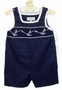 "<img src=""https://p11.secure.hostingprod.com/@grammies-attic.com/ssl/images/blue-sold-1.gif""> NEW Royal Child Navy Pique Smocked Shortall with Anchor Embroidery"