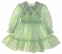 "<img src=""https://p11.secure.hostingprod.com/@grammies-attic.com/ssl/images/blue-sold-1.gif""> Polly Flinders Pale Green Smocked Toddler Dress with White Embroidered Collar"