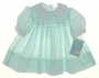 "<img src=""https://p11.secure.hostingprod.com/@grammies-attic.com/ssl/images/blue-sold-1.gif""> New Polly Flinders Pale Green Smocked Dress with White Lace Edged Collar and Cuffs"