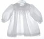 "<img src=""https://p11.secure.hostingprod.com/@grammies-attic.com/ssl/images/blue-sold-1.gif""> Polly Flinders White Long Sleeved Dress with Pink Smocking"