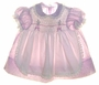 "<img src=""https://p11.secure.hostingprod.com/@grammies-attic.com/ssl/images/blue-sold-1.gif""> Polly Flinders Lilac Flowered Pinafore Style Smocked Dress"