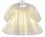 "<img src=""https://p11.secure.hostingprod.com/@grammies-attic.com/ssl/images/blue-sold-1.gif""> Polly Flinders Pale Yellow Smocked Dress with Ruffled Hem"