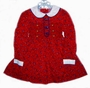 "<img src=""https://p11.secure.hostingprod.com/@grammies-attic.com/ssl/images/blue-sold-1.gif""> Polly Flinders Dark Red Flowered Little Girls Smocked Dress with Butterfly Buttons"