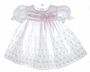 "<img src=""https://p11.secure.hostingprod.com/@grammies-attic.com/ssl/images/blue-sold-1.gif""> White Eyelet Dress and Matching Bonnet with Pink Ribbon"