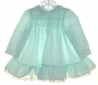 "<img src=""https://p11.secure.hostingprod.com/@grammies-attic.com/ssl/images/blue-sold-1.gif""> Polly Flinders Pale Green Long Sleeved Smocked Dress with Lace Ruffled Hem"