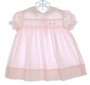 "<img src=""https://p11.secure.hostingprod.com/@grammies-attic.com/ssl/images/blue-sold-1.gif""> Polly Flinders Pale Pink Smocked Dress with Blue Piping Trim"