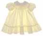 "<img src=""https://p11.secure.hostingprod.com/@grammies-attic.com/ssl/images/blue-sold-1.gif""> Polly Flinders Pale Yellow Smocked Bishop Dress with Lace Trimmed Collar"