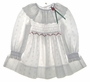 "<img src=""https://p11.secure.hostingprod.com/@grammies-attic.com/ssl/images/blue-sold-1.gif""> Polly Flinders White Eyelet Smocked Toddler Dress with Red Rosebuds"