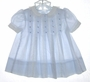 "<img src=""https://p11.secure.hostingprod.com/@grammies-attic.com/ssl/images/blue-sold-1.gif""> Polly Flinders Pale Blue Dotted Dress with Pleats and White Collar"