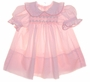 "<img src=""https://p11.secure.hostingprod.com/@grammies-attic.com/ssl/images/blue-sold-1.gif""> Polly Flinders Pink Smocked Dress with Ruffle Edged Collar and Sleeves"