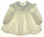 "<img src=""https://p11.secure.hostingprod.com/@grammies-attic.com/ssl/images/blue-sold-1.gif""> Polly Flinders White Smocked Dress with Tiny Yellow Peach and Blue Flowers"
