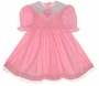 "<img src=""https://p11.secure.hostingprod.com/@grammies-attic.com/ssl/images/blue-sold-1.gif""> Polly Flinders Pink Flowered Smocked Toddler Dress with Lace Trimmed Collar"