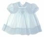 "<img src=""https://p11.secure.hostingprod.com/@grammies-attic.com/ssl/images/blue-sold-1.gif""> Polly Flinders Pale Blue Smocked Baby Dress with Eyelet Trim"