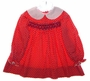 "<img src=""https://p11.secure.hostingprod.com/@grammies-attic.com/ssl/images/blue-sold-1.gif""> Vintage 1960s Polly Flinders Red Flowered Little Girls Dress with White Collar"