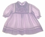 "<img src=""https://p11.secure.hostingprod.com/@grammies-attic.com/ssl/images/blue-sold-1.gif""> Polly Flinders Lilac Dotted Smocked Baby Dress with Eyelet Trim and Embroidery"