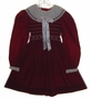 "<img src=""https://p11.secure.hostingprod.com/@grammies-attic.com/ssl/images/blue-sold-1.gif""> Polly Flinders Burgundy Smocked Girls Dress with Cream Eyelet Collar"