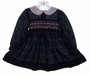 "<img src=""https://p11.secure.hostingprod.com/@grammies-attic.com/ssl/images/blue-sold-1.gif""> Polly Flinders Navy Plaid Smocked Toddler Dress with White Eyelet Collar"