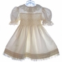 "<img src=""https://p11.secure.hostingprod.com/@grammies-attic.com/ssl/images/blue-sold-1.gif""> Polly Flinders Cream Smocked Taffeta Party Dress with Lace Trim"