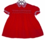 "<img src=""https://p11.secure.hostingprod.com/@grammies-attic.com/ssl/images/blue-sold-1.gif""> Polly Flinders Red Smocked Dress with Lacy Collar"
