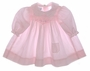 "<img src=""https://p11.secure.hostingprod.com/@grammies-attic.com/ssl/images/blue-sold-1.gif""> Polly Flinders Pink Smocked Baby Dress with Embroidered Collar and Pocket"