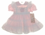 "<img src=""https://p11.secure.hostingprod.com/@grammies-attic.com/ssl/images/blue-sold-1.gif""> New Polly Flinders Pink Dress with White Eyelet Smocked Pinafore"