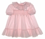 "<img src=""https://p11.secure.hostingprod.com/@grammies-attic.com/ssl/images/blue-sold-1.gif""> Polly Flinders Pink Smocked Toddler Dress with Satin Ribbon Trim"